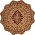 Nourison Heritage Hall 6' x 6' Lacquer Free Form Rug - Item Number: HE03 LAC 6X6