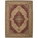 """Nourison Heritage Hall 8'6"""" x 11'6"""" Lacquer Rectangle Rug - Item Number: HE03 LAC 86X116"""