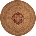 Nourison Heritage Hall 9' x 9' Lacquer Round Rug - Item Number: HE03 LAC 9X9