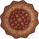 Nourison Heritage Hall 8' x 8' Lacquer Free Form Rug - Item Number: HE04 LAC 8X8