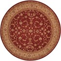 Nourison Heritage Hall 9' x 9' Lacquer Round Rug - Item Number: HE04 LAC 9X9