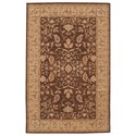 "Nourison Heritage Hall 5'6"" x 8'6"" Brown Rectangle Rug - Item Number: HE05 BRN 56X86"
