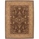 "Nourison Heritage Hall 8'6"" x 11'6"" Brown Rectangle Rug - Item Number: HE05 BRN 86X116"