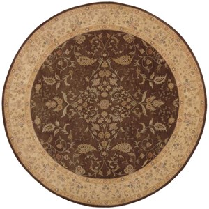 Nourison Heritage Hall 9' x 9' Brown Round Rug