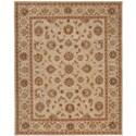 "Nourison Heritage Hall 9'9"" x 13'9"" Ivory Rectangle Rug - Item Number: HE08 IV 99X139"