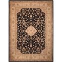 Nourison Heritage Hall 12' x 15' Black Rectangle Rug - Item Number: HE10 BLK 12X15