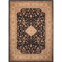 "Nourison Heritage Hall 3'9"" x 5'9"" Black Rectangle Rug - Item Number: HE10 BLK 39X59"