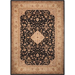 "Nourison Heritage Hall 5'6"" x 8'6"" Black Rectangle Rug"