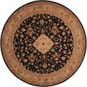 Nourison Heritage Hall 9' x 9' Black Round Rug - Item Number: HE10 BLK 9X9