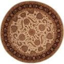 Nourison Heritage Hall 9' x 9' Beige Round Rug - Item Number: HE19 BGE 9X9