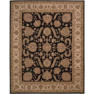 12' x 15' Black Rectangle Rug