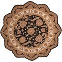 Nourison Heritage Hall 8' x 8' Black Free Form Rug - Item Number: HE19 BLK 8X8
