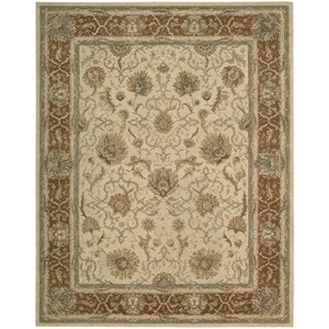 "Nourison Heritage Hall 5'6"" x 8'6"" Mist Rectangle Rug"