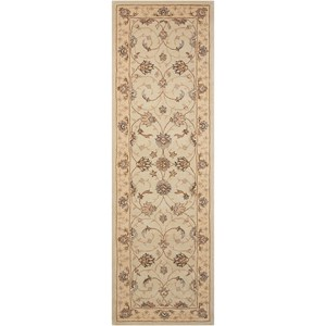 "Nourison Heritage Hall 2'6"" x 8' Cream Runner Rug"