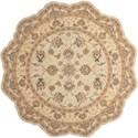 Nourison Heritage Hall 6' x 6' Cream Free Form Rug - Item Number: HE28 CREAM 6X6