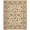 "Nourison Heritage Hall 8'6"" x 11'6"" Cream Rectangle Rug - Item Number: HE28 CREAM 86X116"