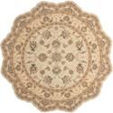 Nourison Heritage Hall 8' x 8' Cream Free Form Rug - Item Number: HE28 CREAM 8X8