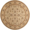 Nourison Heritage Hall 9' x 9' Cream Round Rug - Item Number: HE28 CREAM 9X9