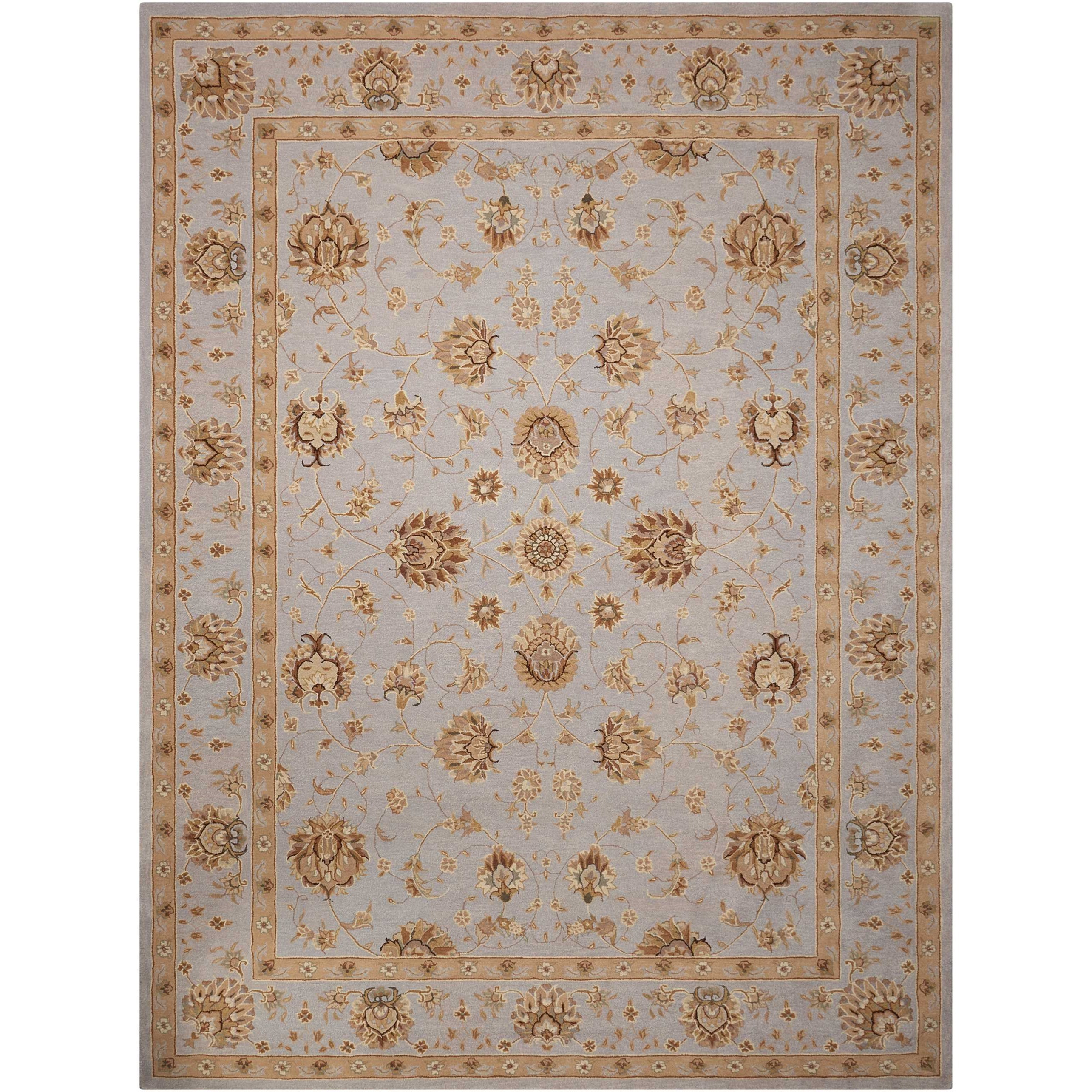 "Nourison Heritage Hall 5'6"" x 8'6"" Light Blue Rectangle Rug - Item Number: HE28 LTB 56X86"