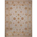 "Nourison Heritage Hall 9'9"" x 13'9"" Light Blue Rectangle Rug - Item Number: HE28 LTB 99X139"