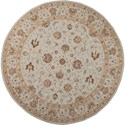 Nourison Heritage Hall 9' x 9' Light Blue Round Rug - Item Number: HE28 LTB 9X9