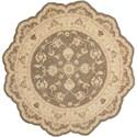 Nourison Heritage Hall 6' x 6' Slate Free Form Rug - Item Number: HE28 SLATE 6X6