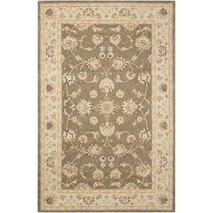 "Nourison Heritage Hall 9'9"" x 13'9"" Slate Rectangle Rug"