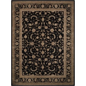 "Nourison Heritage Hall 7'9"" x 9'9"" Black Rectangle Rug"