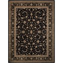 "Nourison Heritage Hall 7'9"" x 9'9"" Black Rectangle Rug - Item Number: HE29 BLK 79X99"