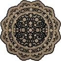 Nourison Heritage Hall 8' x 8' Black Free Form Rug - Item Number: HE29 BLK 8X8