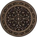 Nourison Heritage Hall 9' x 9' Black Round Rug - Item Number: HE29 BLK 9X9