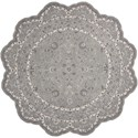 Nourison Heritage Hall 6' x 6' Steel Free Form Rug - Item Number: HE29 STEEL 6X6