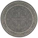 Nourison Heritage Hall 9' x 9' Steel Round Rug - Item Number: HE29 STEEL 9X9