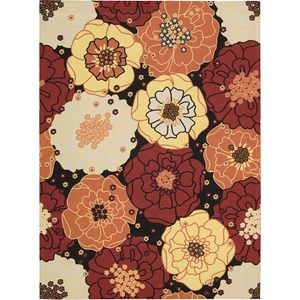 "Nourison Home & Garden 7'9"" x 10'10"" Black Area Rug"