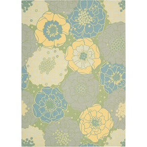 "Nourison Home & Garden 5'3"" x 7'5"" Green Area Rug"