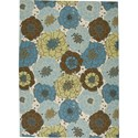 "Nourison Home & Garden 7'9"" x 10'10"" Light Blue Area Rug - Item Number: 11197"