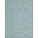 "Nourison Home & Garden 7'9"" x 10'10"" Light Blue Area Rug - Item Number: 11202"