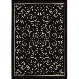 "Nourison Home & Garden 5'3"" x 7'5"" Black Area Rug"