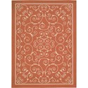 "Nourison Home & Garden 5'3"" x 7'5"" Orange Area Rug - Item Number: 11206"