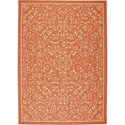 "Nourison Home & Garden 7'9"" x 10'10"" Orange Area Rug - Item Number: 11207"