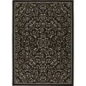 "Nourison Home & Garden 7'9"" x 10'10"" Black Area Rug - Item Number: 11210"