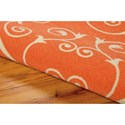 Nourison Home & Garden 10' x 13' Orange Area Rug