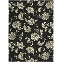"Nourison Home & Garden 5'3"" x 7'5"" Black Area Rug - Item Number: 11222"