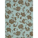 "Nourison Home & Garden 7'9"" x 10'10"" Light Blue Area Rug - Item Number: 11225"