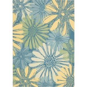 Nourison Home & Garden 10' x 13' Blue Area Rug