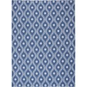 Nourison Home & Garden 10' x 13' Navy Area Rug - Item Number: 20751