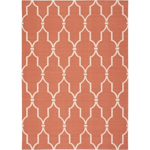 "Nourison Home & Garden 5'3"" x 7'5"" Orange Area Rug"