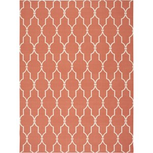 "Nourison Home & Garden 7'9"" x 10'10"" Orange Area Rug"