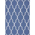 Nourison Home & Garden 10' x 13' Navy Area Rug - Item Number: 20770