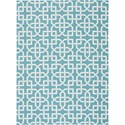 "Nourison Home & Garden 5'3"" x 7'5"" Aqua Area Rug - Item Number: 20792"